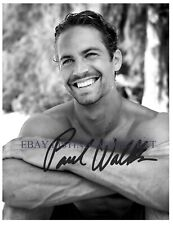 PAUL WALKER SIGNED AUTOGRAPH 8x10 RPT PHOTO THE FAST AND FURIOUS THAT SMILE
