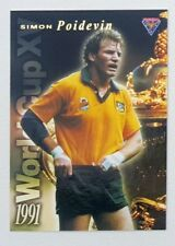1995 Futera Rugby Union World Cup XV insert card #WC6 Simon Poidevin
