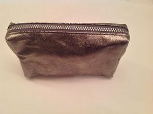 bareMinerals Gunmetal Zippered Cosmetics/Makeup/Clutch Bag - NEW