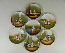 Complete Set 1974 Royal Bayreuth Sun-Bonnet Babies Weekday Chores Plates