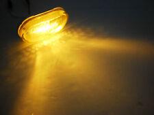 2 x 4 Amber 6 LED Oval Oblong Marker Clearance Light Trailer RV Camper