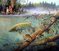 "Scott Zoellick "" Best Friends"" fishing  Art Print  SN with Certificate"