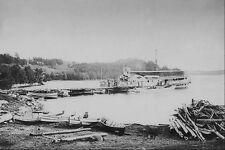 619069 Georgeville Lake Magog 1865 Photo A Henderson 135037 A4 Photo Print