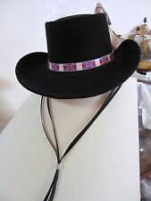 65fd02c2992 WESTERN EXPRESS INC COWBOY HAT with BLACK FELT BAND MADE IN MEXICO Vintage