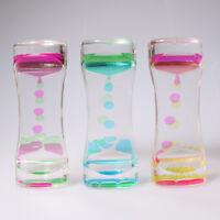 Fun Classic Fidget Sensory Toy Liquid Bubbler Motion Timer Colorful Hourglass