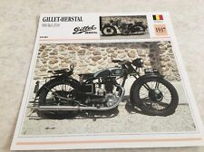 Fiche moto collection Atlas Motorcycle Gillet Herstal 500 bol d'or 1937