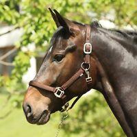 ELDORADO Nylonhalfter Lea - braun - Warmblut Halfter für Pferde Pferdehalfter