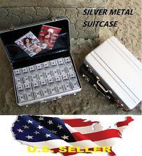 "1/6 Silver Metal Suitcase gun Cash Box for 12"" Barbie Hot toys Phicen Kumik USA"
