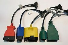 5 pcs OBD1 Adapter Cable Kit For Actron CP9690 & Bosch OBD 1300 Scan Tools