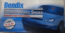 NEW BENDIX RELINED REAR BRAKE SHOES R363 / 363 FITS VEHICLES LISTED ON CHART