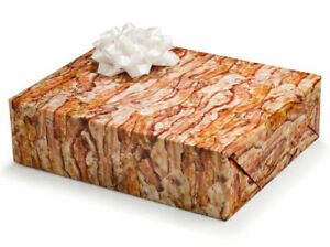 BACON GIFT WRAP 2 Sheets 20'' x 30'' Wrapping Paper Set - CLOSEOUT