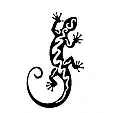 Salamandre autocollant sticker adhésif couleur lézard noir 12 cm