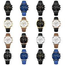 Fashion Men Women Casual Leather Strap Analog Quartz Wrist Watch Male Watches