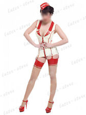 696 Latex Rubber Gummi Clinic nurse Vest suspender uniform customized 0.4mm cool