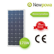 Newpowa moncrystalline 170 Watt 170W 12V  Solar Panel Mono Module RV > 165w 160w