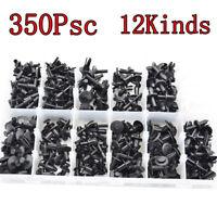 350Pcs Auto Body Plastic Push Retainer Pin Rivet Fasteners Trim Moulding Clips