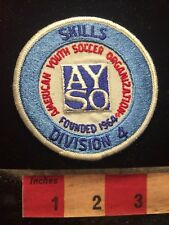 Vtg AYSO SOCCER SKILLS DIVISION 4 Patch American Youth Soccer Association 70X5