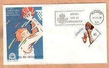FDC  1986 Spain basketball