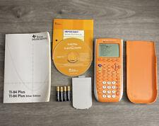 Texas Instruments TI-84 Plus Silver Edition Graphing Calculator w/cover - Orange
