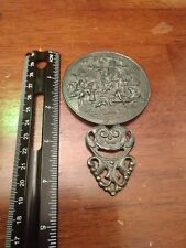 Small Pewter Hand Mirror Purse Mirror Vanity Collectible
