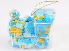 Toy Train Shape Bath Soap Ornament w/Colorful Confetti, Light Floral Scented