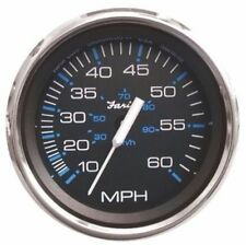 Faria Chesapeake Black Stainless Steel Speedometer Mechanical 60 MPH 33704 MD