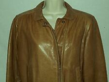 Scully Leather Jacket Motorcycle Coat 6 Womens M Tan Brown 6c10