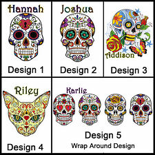 Personalised Sugar Skull Mug, w/ Name, Many Designs, Gift Idea - Day of the Dead