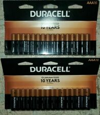32 DURACELL COPPERTOP AAA ALKALINE BATTERIES(2x16) PACKS FREE SHIPPING EXP 2029