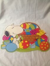 Snoopy Easter Paper Decoration Vintage Woodstock Painting Eggs Peanuts