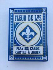 """Bicycle """"Fleur de Lis"""" Playing Cards, Blue, Cartes a Jouer, 2017"""