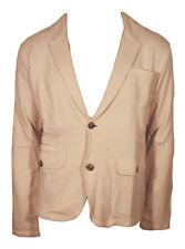 Jack & Jones Premium Giacca Casual Blazer Uomo Sfoderata Beige Leggera L SlimFit