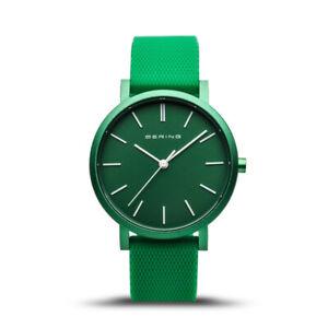 Bering Time True Aurora Green Aluminium Case & Dial Women's Watch. 16934-899