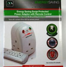 Master Plug Energy Saving Power Adapter Remote Control Surge Protector Mains