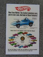 REDLINE HOT WHEELS 1968 SWEET 16 CARS CHEETAH PYTHON POSTER