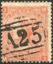 More details for 1865-67 4d vermilion plate 12 used in malta sg 93 fine used v86219