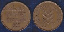 C1 PALESTINE 2 MILS Bronze 1927 ISRAEL