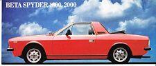 RARA MINI BROCHURE ORIGINALE LANCIA BETA SPYDER 1600-2000 - Ediz.1974
