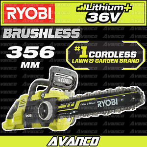 RYOBI 36V 356mm Brushless Chainsaw Skin Only Cordless Battery 14in RCS36B1 NEW