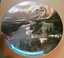 "Banff National Park Bow Valley Royal Doulton 10 1/8"" Collector's Plate England"