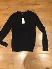 MENS Medium Black Crewe Neck Jumper NEW Very Smart Burton Fab for School