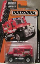Red 4x4 SCRAMBULANCE AMBULANCE. CFW77. MBX Heroic Rescue. New in Blister Pack.