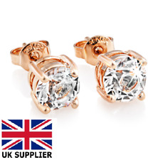 Real 18ct White Gold Plated Crystal Diamond Earring Studs for Men's or boy's