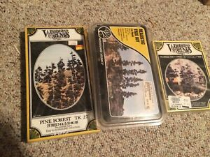 Pack of three tree kits Woodland Scenics TK-20 / TK-27 / TR-1113 new in boxes