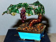 "Objet d'art Trinket Box-#374 ""Bonsai Bordeaux""  WOW--OPEN ME!!"