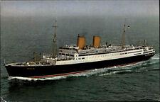 Schiffsfoto Echtfoto-AK 1961 Schiff MS BERLIN gelaufen Stempel OPPHEIM Norge