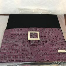 "Miche Classic Handbag Shell Cover ONLY ""Ellie"" Purple Croc Texture Silver Buckle"