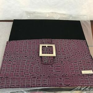 Miche Classic Handbag Shell Cover ONLY ELLIE Purple Croc Texture Silver Buckle