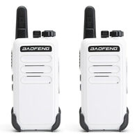 2X Baofeng BF-C9 Mini Walkie Talkie UHF 400-470MHz Handheld Two Way Radio White