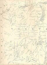 Yorktown Amawalk Croton Reservoir Shrub Oak NY 1911 Maps Homeowners Names Shown